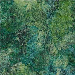 Stonehenge 108'' Wide Quilt Backing Green/Blue Fabric