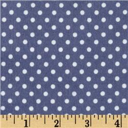 Riley Blake A Beautiful Thing Flannel Dot Navy
