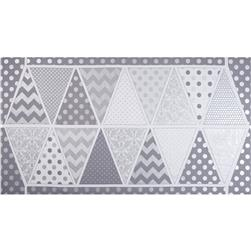 Riley Blake Hollywood Sparkle Banner Panel Shimmer Grey