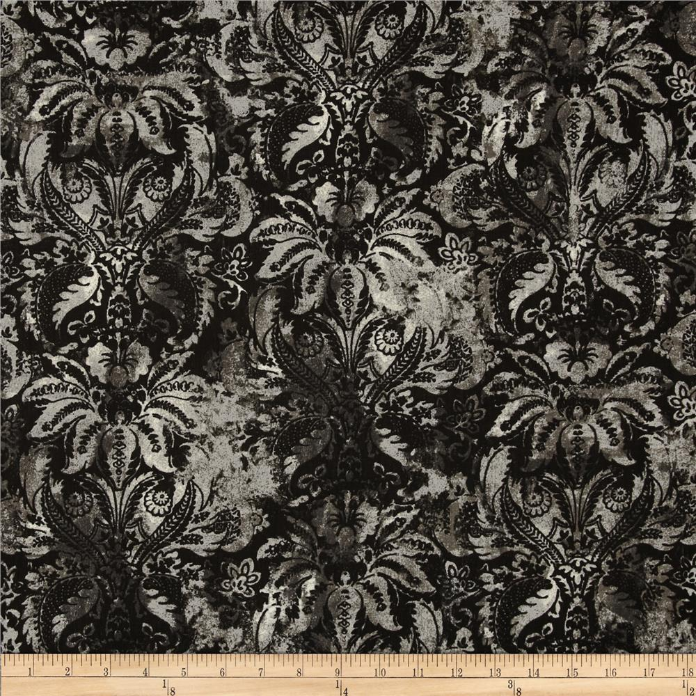 Contempo Hand Made Damask Smoke