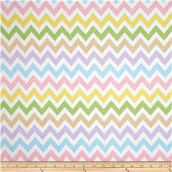 Remix Chevron Spring Pink Fabric