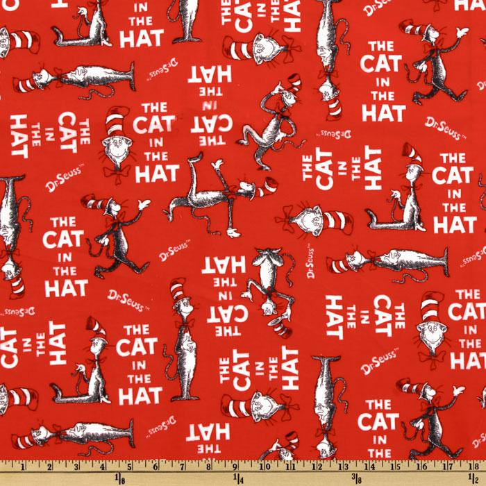 Fabric Book Cover Buy : The cat in hat flannel book cover red discount
