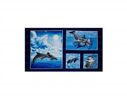 "Make A Splash 24"" Panel Dolphin Multi"