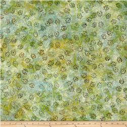 Wilmington Batik Dancing Leaves Little Green