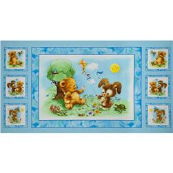 Best Friends Boy Panel Blue