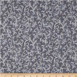 Pear Tree Greetings Metallic Foulard Storm/Silver