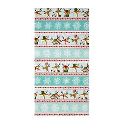 Where's Rudolph? Reindeer Stripe Aqua