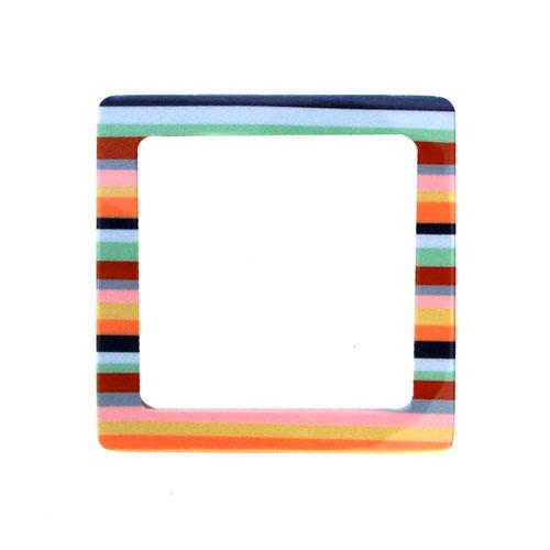 Purse Handle Square 5 1/8'' x 5 1/8''  Multi Striped