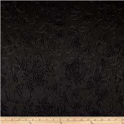 Techno Embossed Double Knit Rose Black