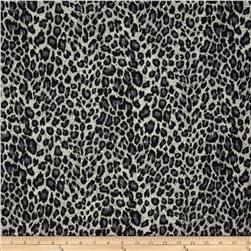 Designer Stretch Jersey Knit Cheetah Black/Grey