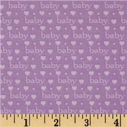 Bundle of Joy Baby Love Lilac Fabric