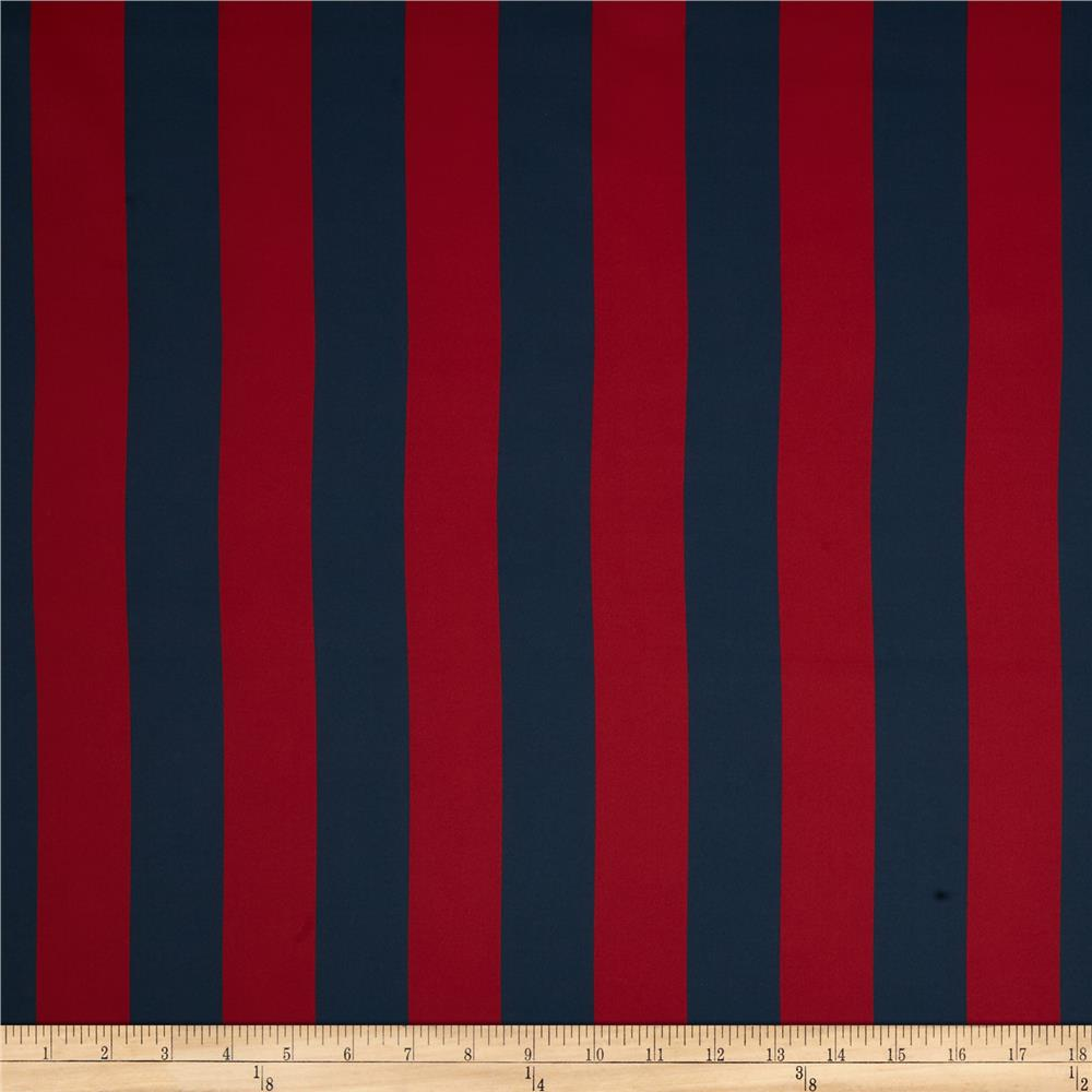 RCA Vertical Stripe Blackout Drapery Fabric Navy/Red
