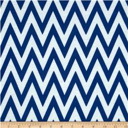 Fashionista Jersey Knit Chevron Royal/White