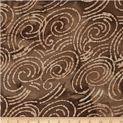Indian Batik Scroll Brown/Beige