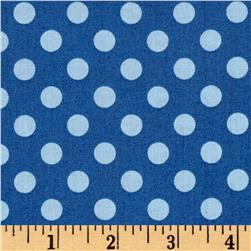 Maywood Studio Kimberbell Basics Dots Blue Tonal