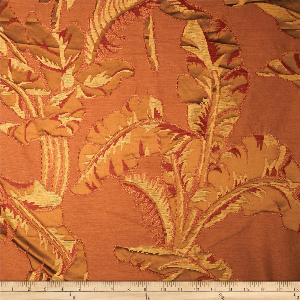 Robert Allen Promo Paradiso Satin Jacquard Java Fabric By The Yard