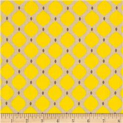 Bright Now Dots Brown/Yellow Fabric