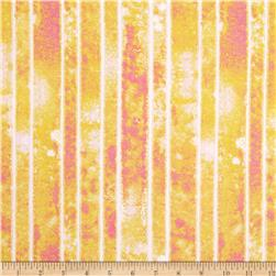 The Garden Club Stripe Texture Yellow/Orange Fabric