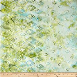 Bali Batiks Handpaint Diamond Border April
