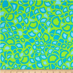 Kanvas Lili-fied Shelby Green/Turquoise Fabric