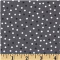 Robert Kaufman Remix Scattered Small Dots Grey