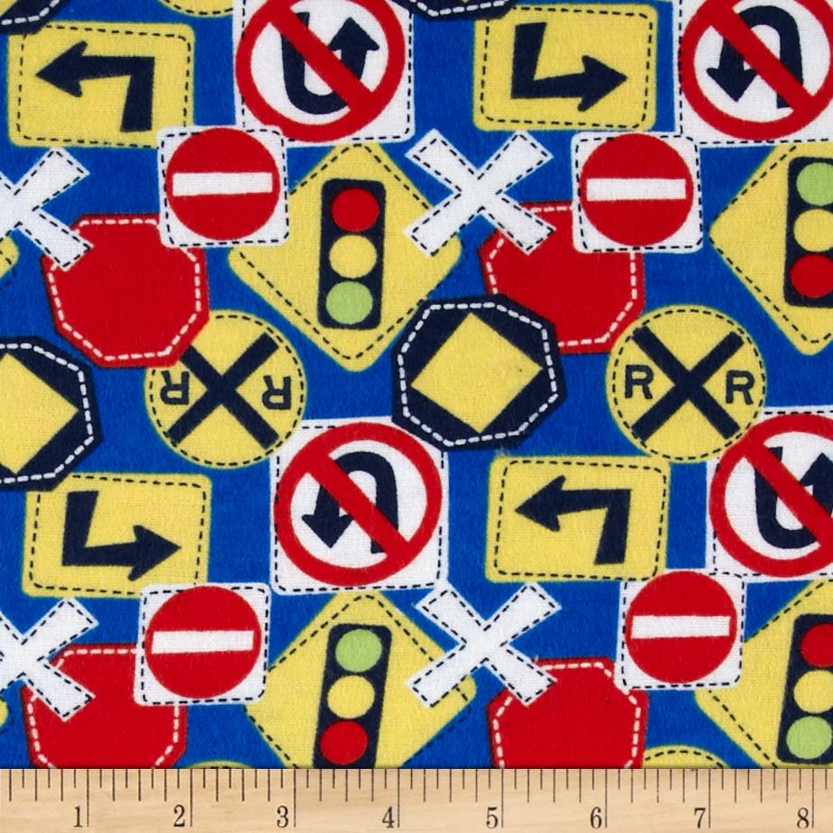 Flannel Traffic Signs Blue