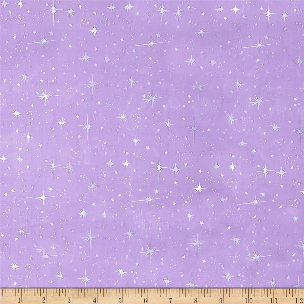 Star foil organza purple discount designer fabric for Star design fabric