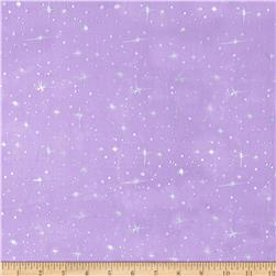 Ice Organza Silver Star Purple