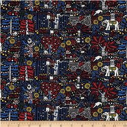 Liberty Of London Tana Lawn Castille Black/Blue/Red