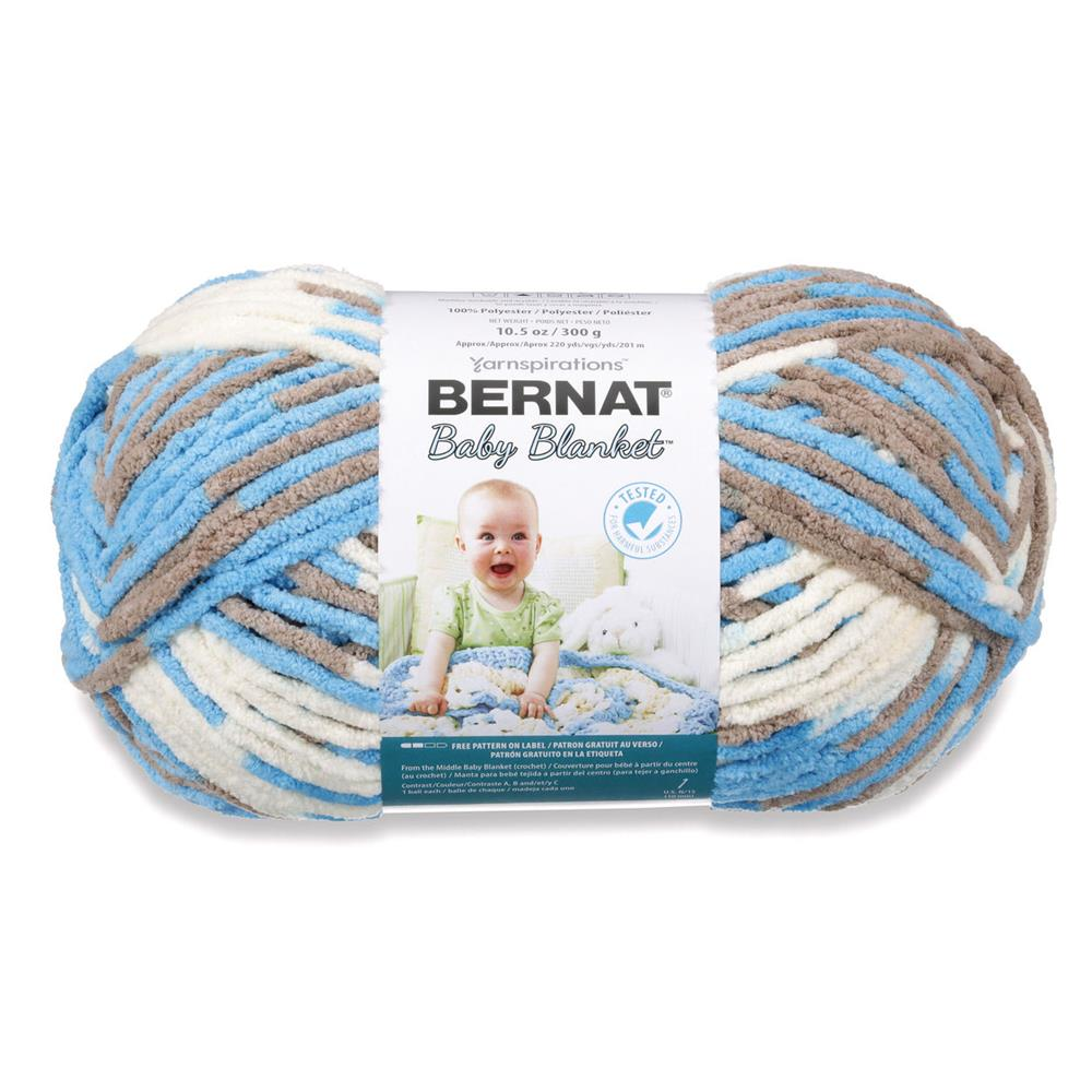 Bernat Baby Blanket Yarn Knitting Patterns : Bernat Baby Blanket Big Ball Yarn (04133) Little Royales - Discount Designer ...