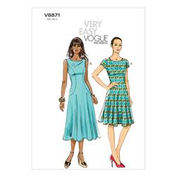 Vogue Misses' Dress Pattern V8871 Size B50