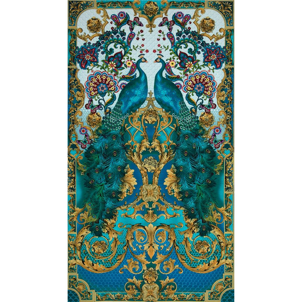 Timeless Treasures Hyde Park Peacock Panel