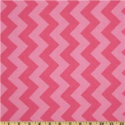 Riley Blake Chevron Medium Tonal Hot Pink Fabric