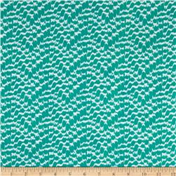 Designer Rayon Challis Abstract Sea Green/White