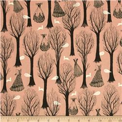 Cotton & Steel Spellbound Metallic Trees Pink
