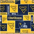 Collegiate Fleece West Virginia University Blocks Blue/Yellow
