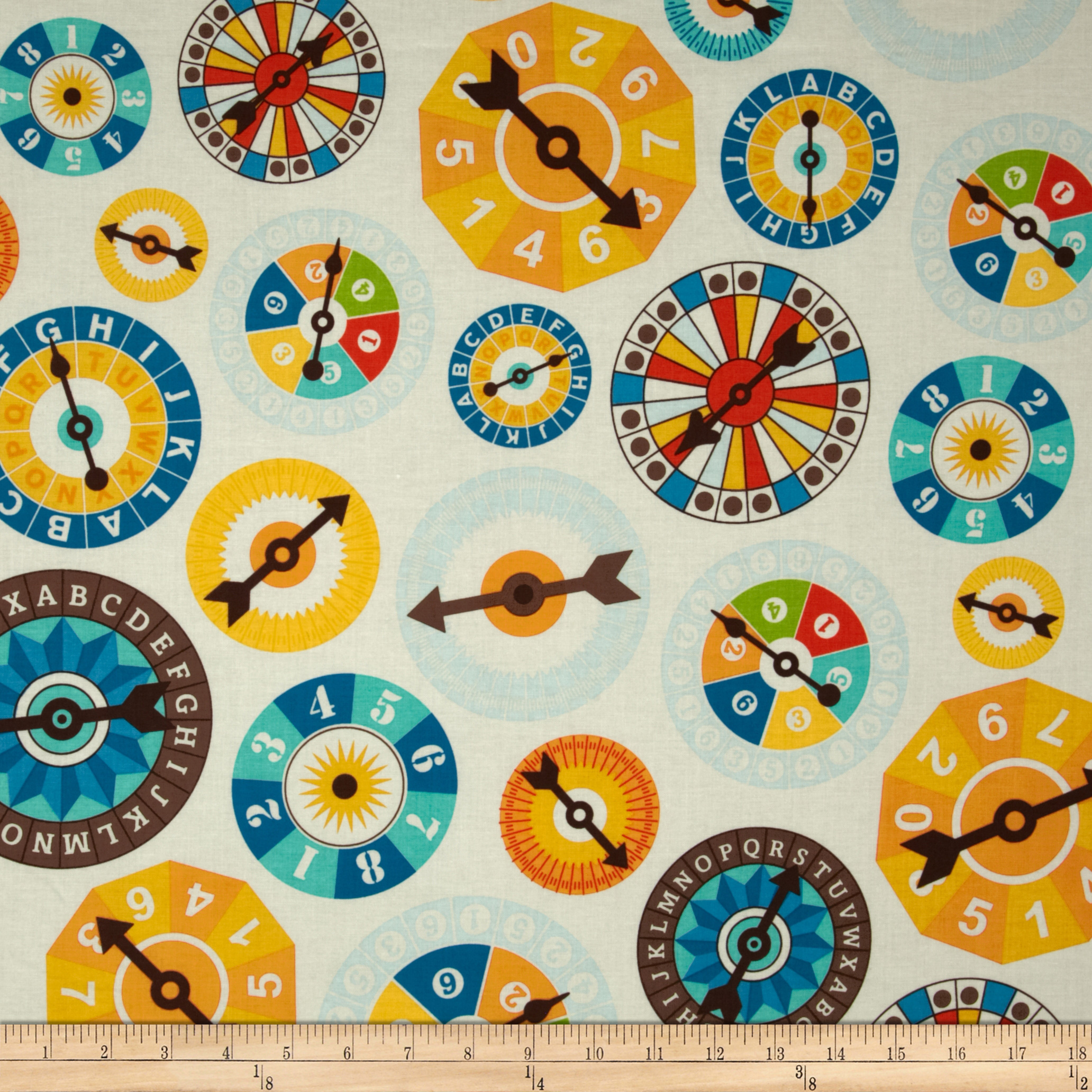 Riley Blake Fun & Games Main Cream Fabric