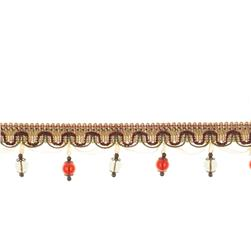 "Fabricut 2.25"" Jewelry Tassel Fringe Vineyard"