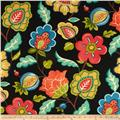 Swavelle/Mill Creek Indoor/Outdoor Jovino Floral Eclipse Black