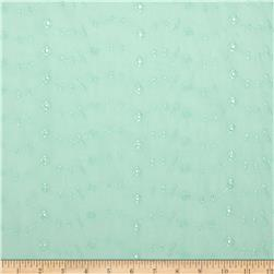 Eyelet Allover Mint Fabric