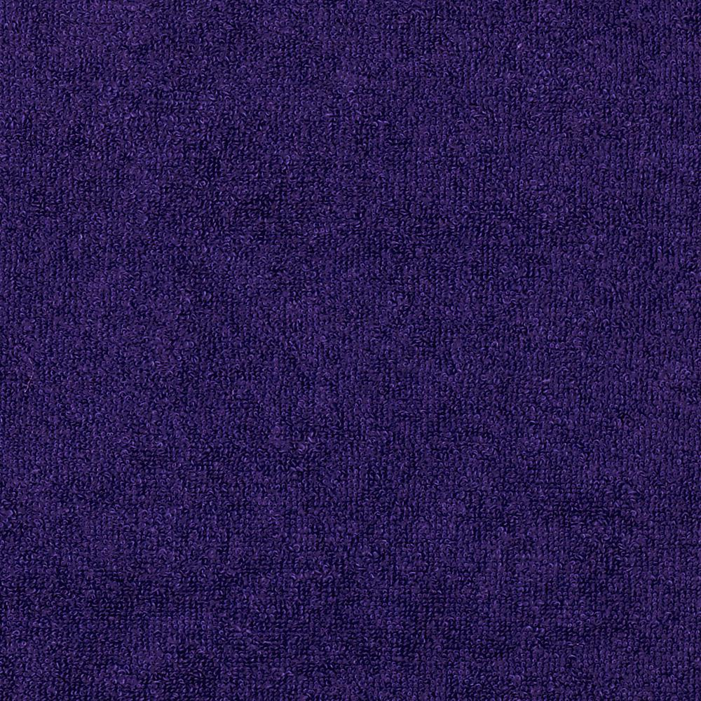 Stretch Cotton Blend Knit Terry Cloth Royal Purple