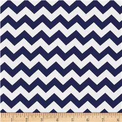 Riley Blake Knit Chevron Small Navy
