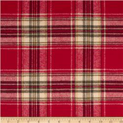 Primo Plaids Christmas Flannel Multi Plaid Red