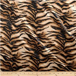 Charmeuse Satin Baby Tiger Gold/Black
