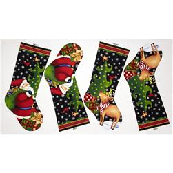 25 Days Til Christmas 24 In. Stocking Panel Multi