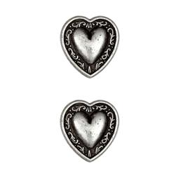 Metal Button 7/8'' Bern Heart Antique Pewter
