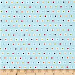 Riley Blake Play Ball Flannel Geo Aqua Fabric