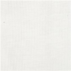 Stretch Rayon Poly Rib Knit Pure White