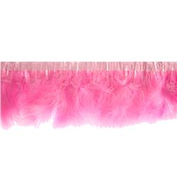 Feather Trim Pink