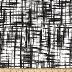 Tahiti Woven Polyester Lines White/Black Fabric